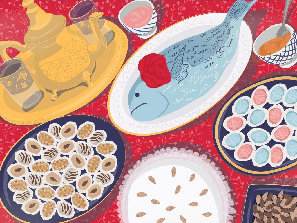 שולחן המימונה איור: נועה קליין